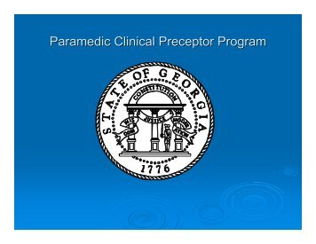 Paramedic Clinical Preceptor Program