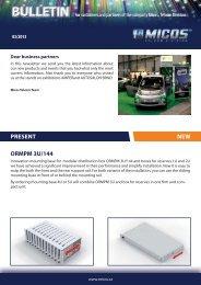 Newsletter - 3/2013 - MICOS, spol. s ro