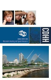 Wisconsin's Hearing and Speech Resource - Center for ...