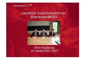 Landelijk expertisecentrum BrandweerBRZO - NIFV