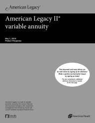American Legacy II® variable annuity - Lincoln Financial Group