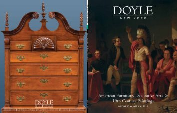 American Furniture, Decorative Arts & 19th ... - Doyle New York