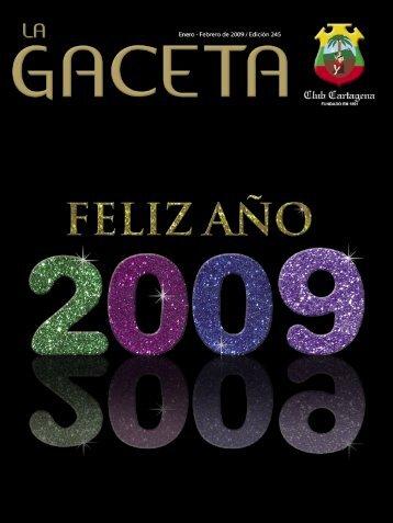 La Gaceta 245 | Enero - Febrero de 2009 - Club Cartagena
