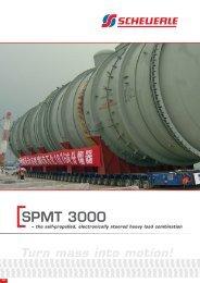 Turn mass into motion! SPMT 3000 - Scheuerle