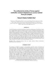 The antibacterial activity of honey against methicillin-resistant ...