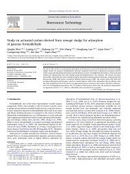 Study on activated carbon derived from sewage sludge for ...