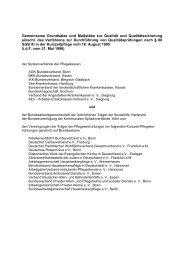 Gemeinsame Grundsätze und Maßstäbe zur Prüfung der ... - MDS