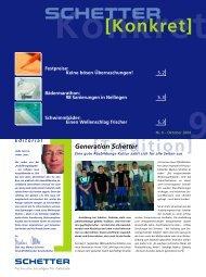 Nr. 9 - Oktober 2004 [PDF] - Schetter GmbH