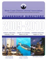 West Coast District Dental Association LEADERSHIP DIRECTORY