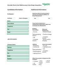 Candidate Information Additional Information - Schneider Electric