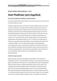 Statt Pfadfinder jetzt Kegelklub - Stamm Scheuburg