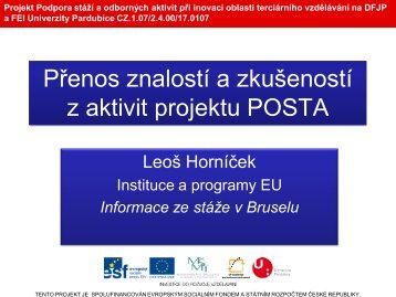 Horníček - Projekty