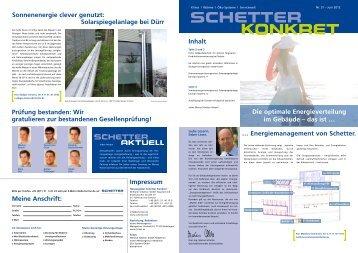 Die optimale Energieverteilung im Gebäude - Schetter GmbH
