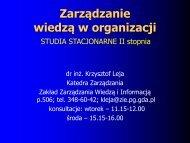 Zarządzanie wiedzą i informacją