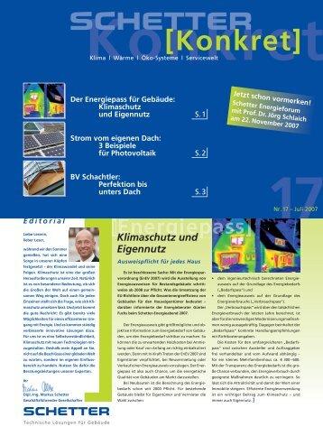 Nr. 17 - Juli 2007 [PDF] - Schetter GmbH