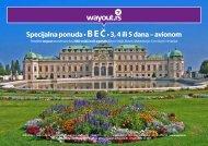Specijalna ponuda • B E Č • 3, 4 ili 5 dana – avionom - Wayout