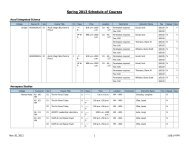 Spring 2013 Schedule of Courses - Scripps College