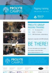 BE THERE! - Prolyte Group