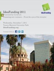 IdeaFunding 2011 - Eller College of Management - University of ...