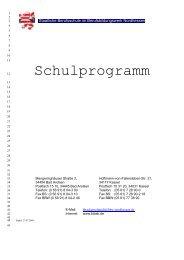 Schulprogramm (Entwurf) - Staatliche Berufsschule
