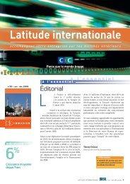 Latitude Internationale n°20 - CIC