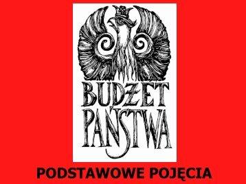 Budżet - podstawowe pojęcia - NBPortal
