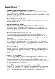 FAQs zum Eselwandern