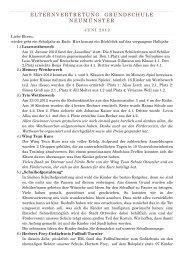 ELTERNVERTRETUNG GRUNDSCHULE NEUMÜNSTER - der ...