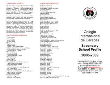 Cont'd - Colegio Internacional de Caracas