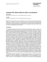 Lagrangian finite element method for solitary wave propagation