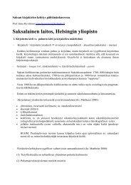 Saksalainen laitos, Helsingin yliopisto - Helsinki.fi