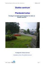 Stokke sentrum Planbeskrivelse - Stokke kommune