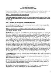 Protokoll vom 20.Februar 2013 - Nußloch