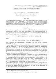 APPLICATIONS OF COTORSION PAIRS - Cambridge Journals