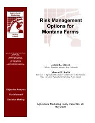 Risk Management Options for Montana Farms - Agricultural ...