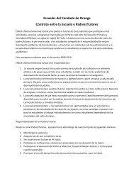 Escuelas del Condado de Orange Contrato entre la Escuela y ...
