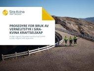 PROSEDYRE FOR BRUK AV VERNEUTSTYR I ... - Energi Norge