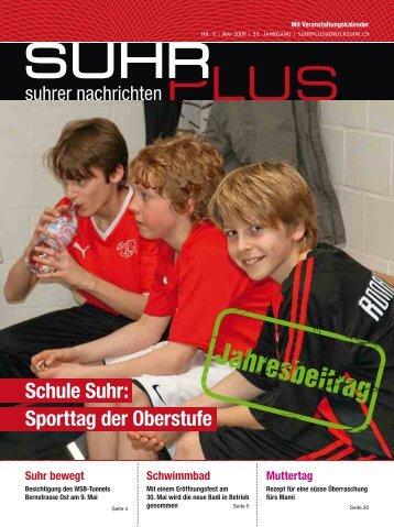 Schule Suhr: Sporttag der Oberstufe