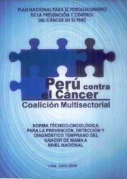 norma técnico oncológica para la prevención, detección y ...