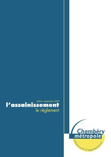 l'assainissement - Graie