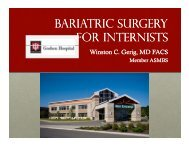 BARIATRIC SuRGERY FOR INTERNISTS