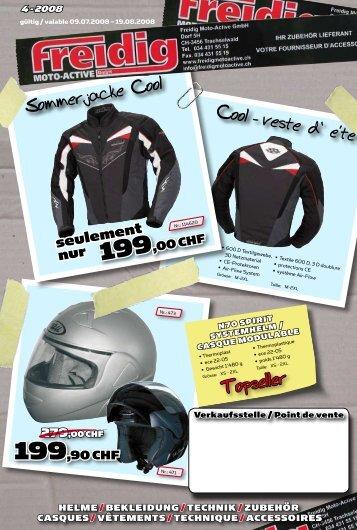 Sommerjacke Cool Cool - veste d' e'te' Topseller - Velos-Motos Keller