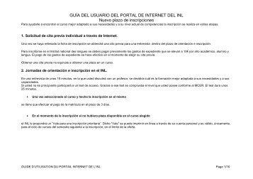 GUÍA DEL USUARIO DEL PORTAL DE INTERNET DEL INL Nuevo ...