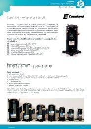 Copeland - kompresory scroll - Schiessl s.r.o.