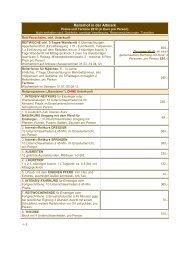 Preise und Termine 2012