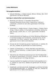 Publikationen Lukas Bühlmann - Bühlmann Rechtsanwälte AG ...