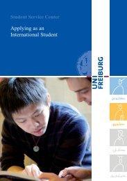 Applying as an International Student - Albert-Ludwigs-Universität ...
