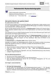 Patienteninfo Myokardszintigraphie - Stadt Linz