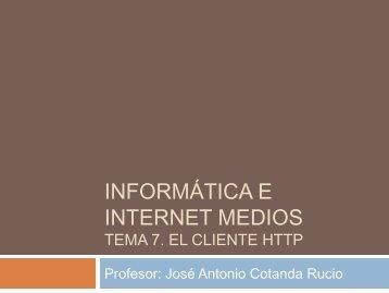 Informática e Internet básicos Tema 1. Introducción