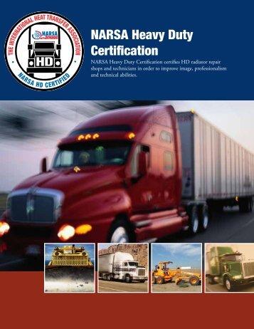 NARSA Heavy Duty Certification